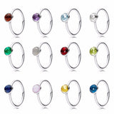 Dainty Stackable Birthstone Rings Collection