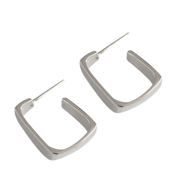 Square hoops earrings