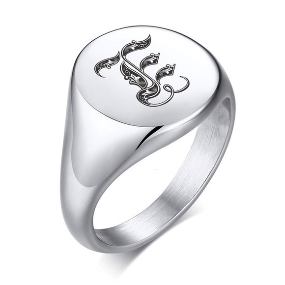Personalized Initial Ring for Men