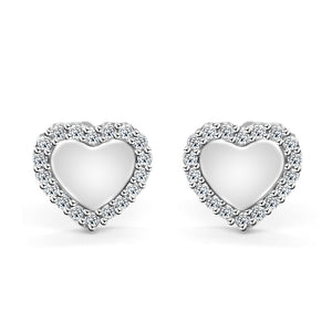 Cute Heart Earrings in 925 Silver Sterling