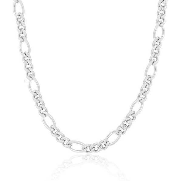 Figaro Chain Necklace in 925 Sterling Silver