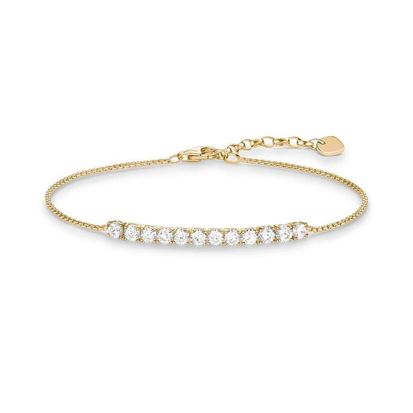 Bar Bracelet with Cubic zirconia