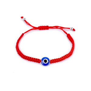Blue Evil Eye Red Cord Bracelet