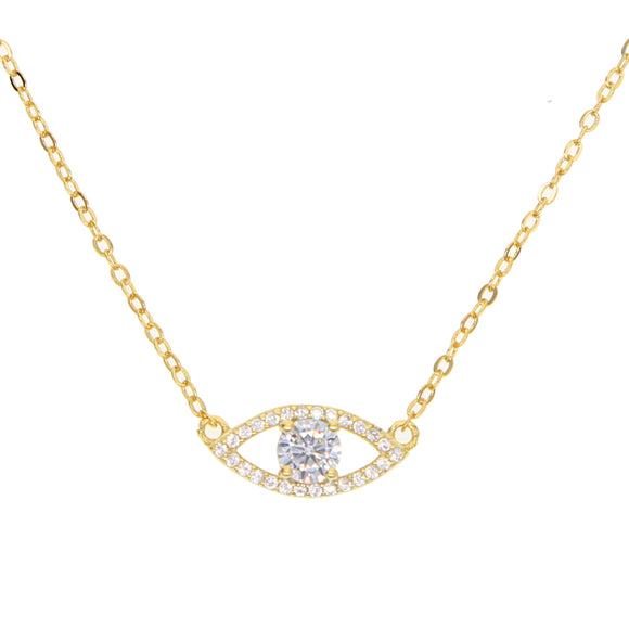 Gold evil eye necklace