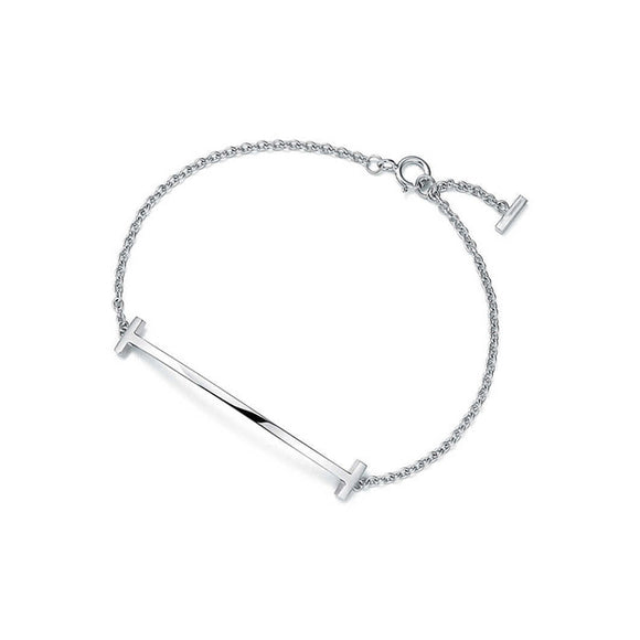 Letter T Bar Bracelet Collection