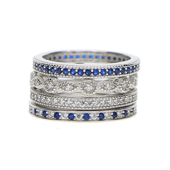 4 Piece Eternity Ring Set