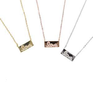 Love Bar Necklace