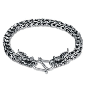 Dragon Chain Bracelet for Men in 925 Sterling Silver