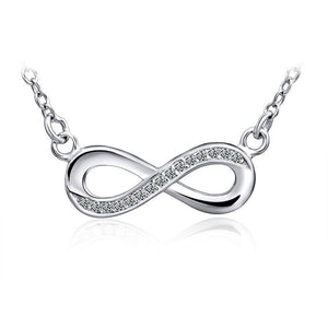 Infinity Chain Necklace with Cubic Zirconia