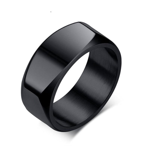 Geometric Band Ring in 316L Stainless Steel