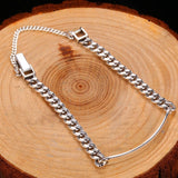 Thin Men's ID Bracelet in 925 Sterling Silver