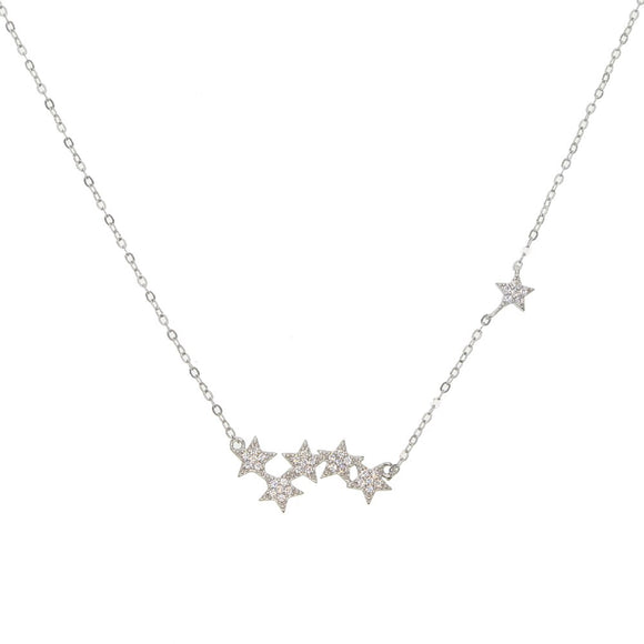 Star Choker Necklace in 925 Sterling Silver