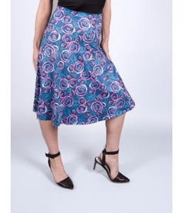 Belle Purple Rose Aline Skirt