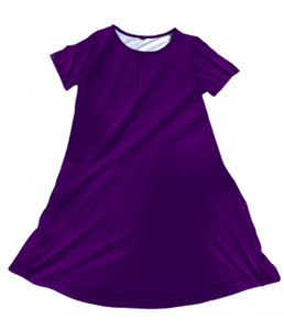 Penelope Dress Solid Eggplant