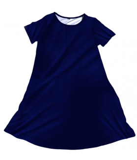 Penelope Dress Solid Navy