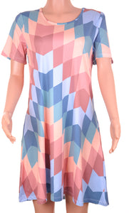Penelope Dress Peach Aztec