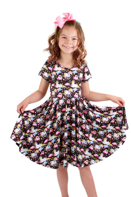 Rainbow Unicorn Bailey Dress