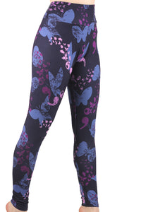Semicolon Butterflies Designer Legging