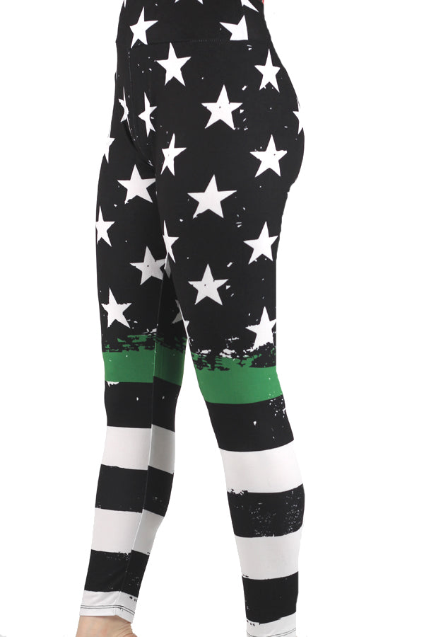 Thin Green Line Designer Legging