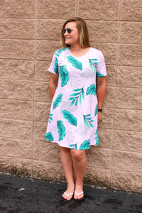Palm Leaves Peneolpe Dress