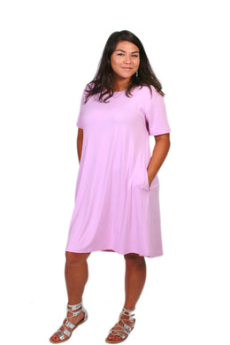 Solid Lavender Peneolpe Dress