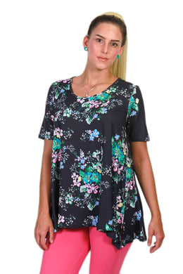 Navy Floral Ideal T