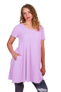 Solid Lavender Swing Top