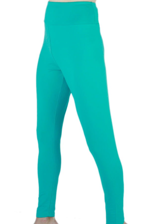 Solid Teal Designer Legging