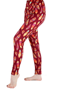 Fall Feathers Designer Legging