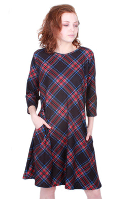 Noir Plaid Avery Dress