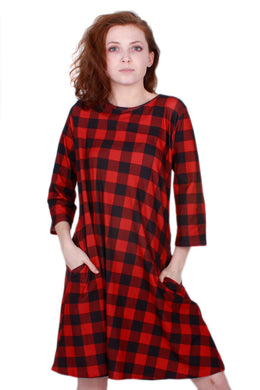 Red Buffalo Plaid Avery Dress