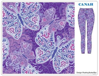 Floating Butterflies Designer Legging
