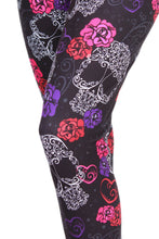 Load image into Gallery viewer, Love Skulls Designer Legging