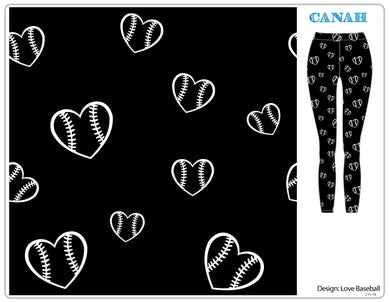 Love Baseball and Softball Designer Legging