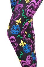 Load image into Gallery viewer, Mardi Gras Masquerade Designer Legging