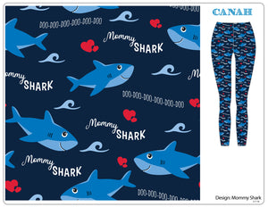 Mommy Shark Designer Legging