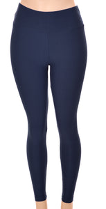 Solid Navy Designer Legging