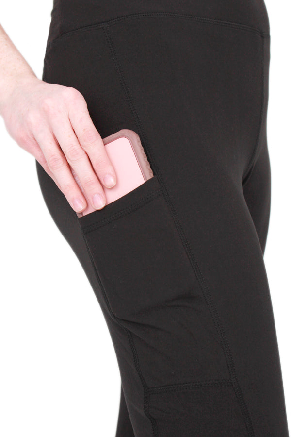 Solid Navy Pocket Designer Legging