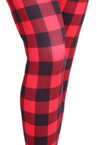 Red Buffalo Plaid Designer Legging