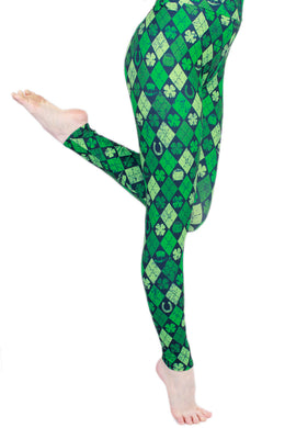 Shamrock Diamonds Designer Legging