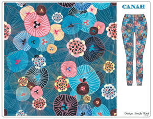 Simple Floral Designer Legging
