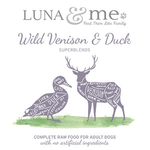 SuperBlends Wild Venison & Duck Patties