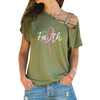 Faith Cross Shoulder T-shirts