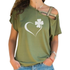 Clover Heart Cross Shoulder T-shirts