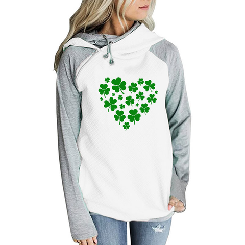Full Heart With Clover Hoodies