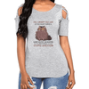 Grumpy Old Lady Shoulder T-shirts
