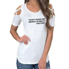 Don't Make Me Repeat Myself Shoulder T-shirts