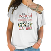 Be A Cindy Lou-Who Cross Shoulder T-shirts