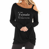 Female Shirt with Shoulder Out