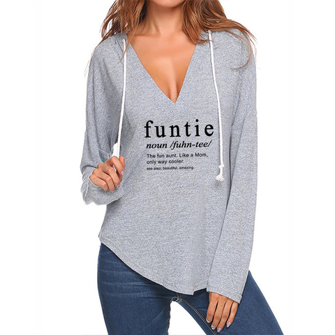 Funtie V-neck Hoodies